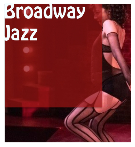 Broadway Jazz for Dancers & Actors Workshop